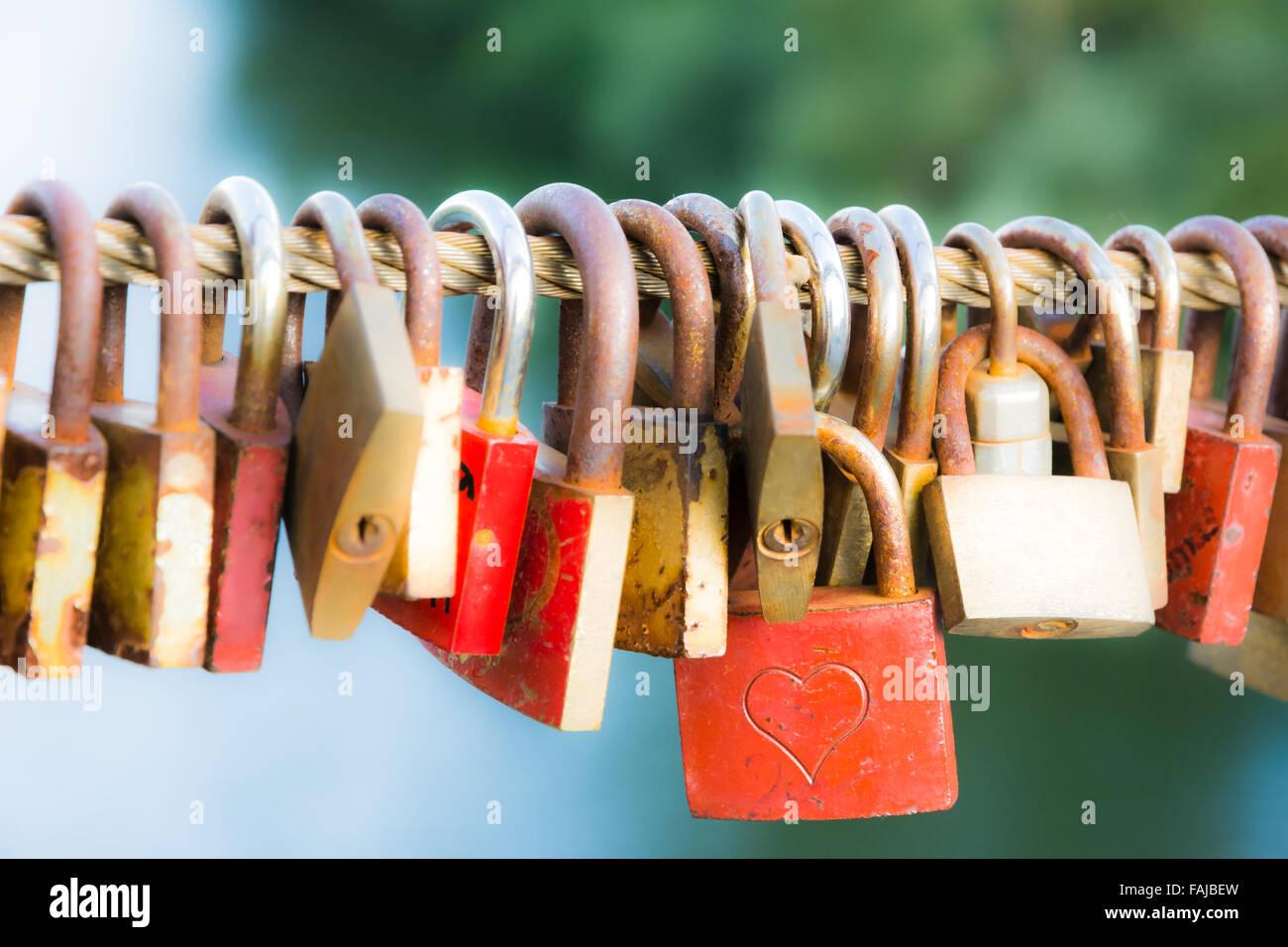 Love Locks As Symbol For Everlasting Love Stock Photo Royalty Free