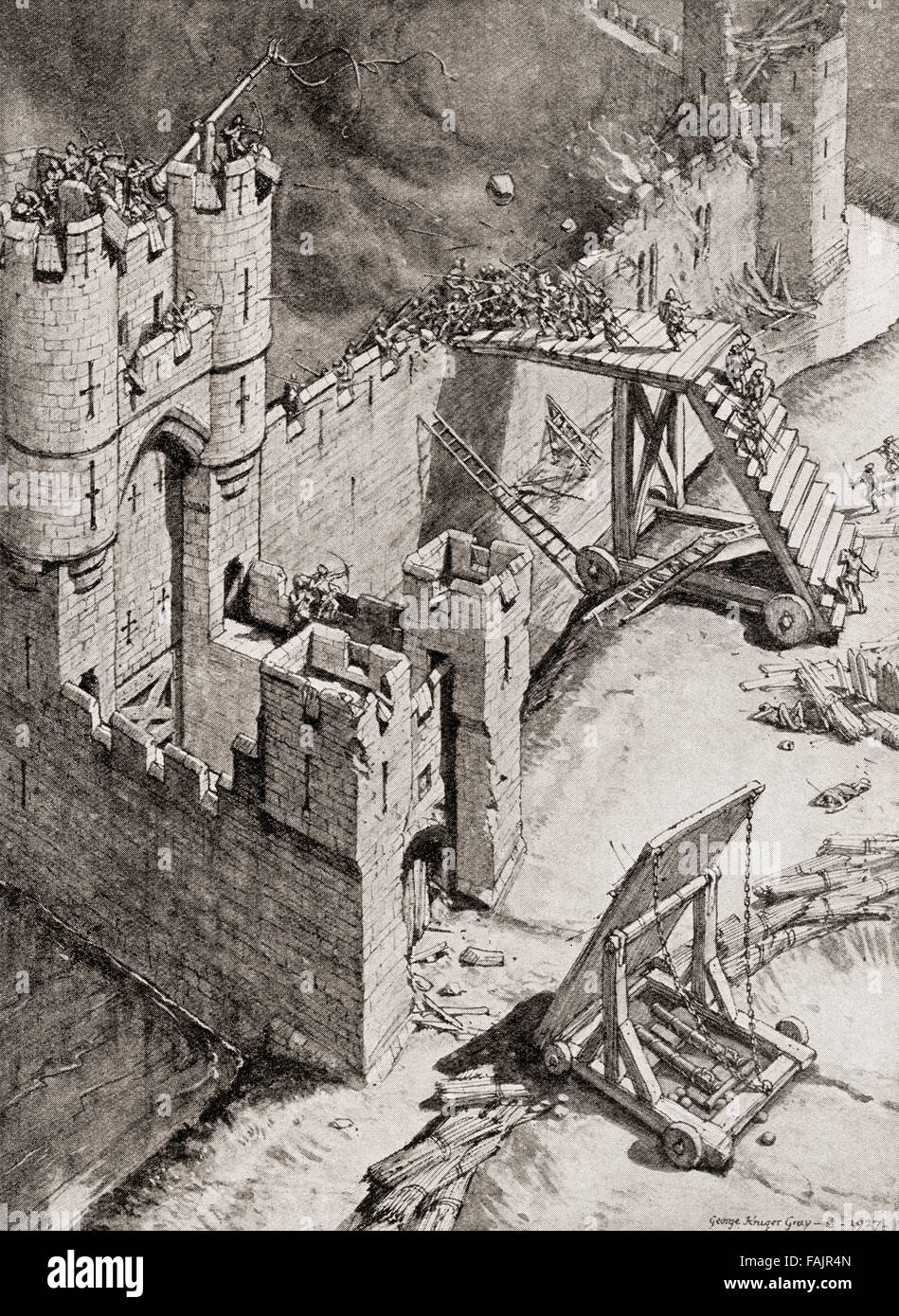 The Siege Of A Castle In The Th Century A Hand To Hand Fight On Fajr N on Medieval Castle Age Siege Weapons