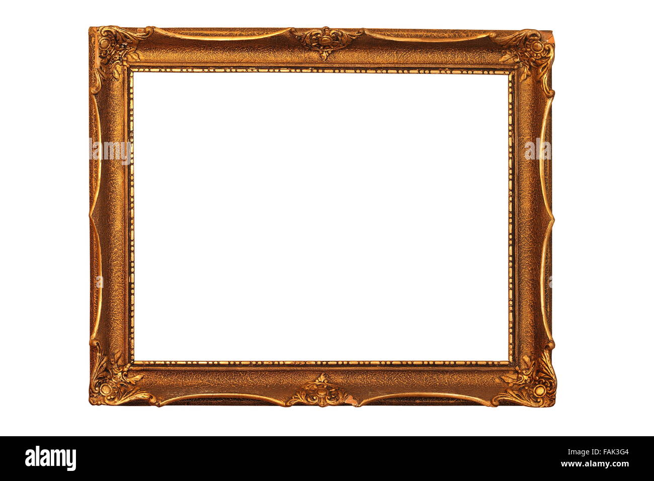antique wooden painting frame isolated over white background Stock ...