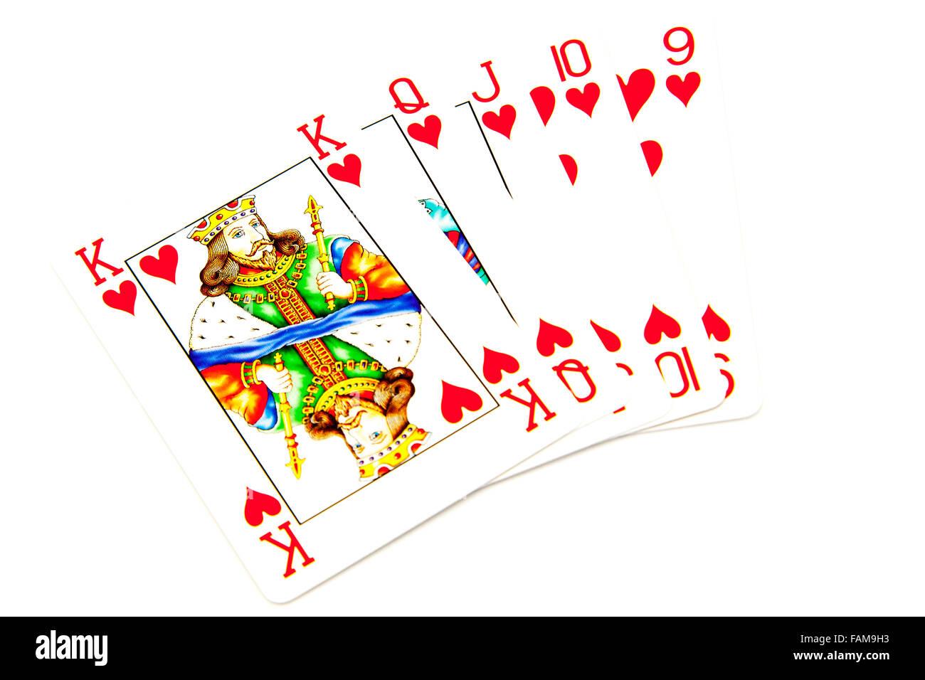 Poker straight same suit