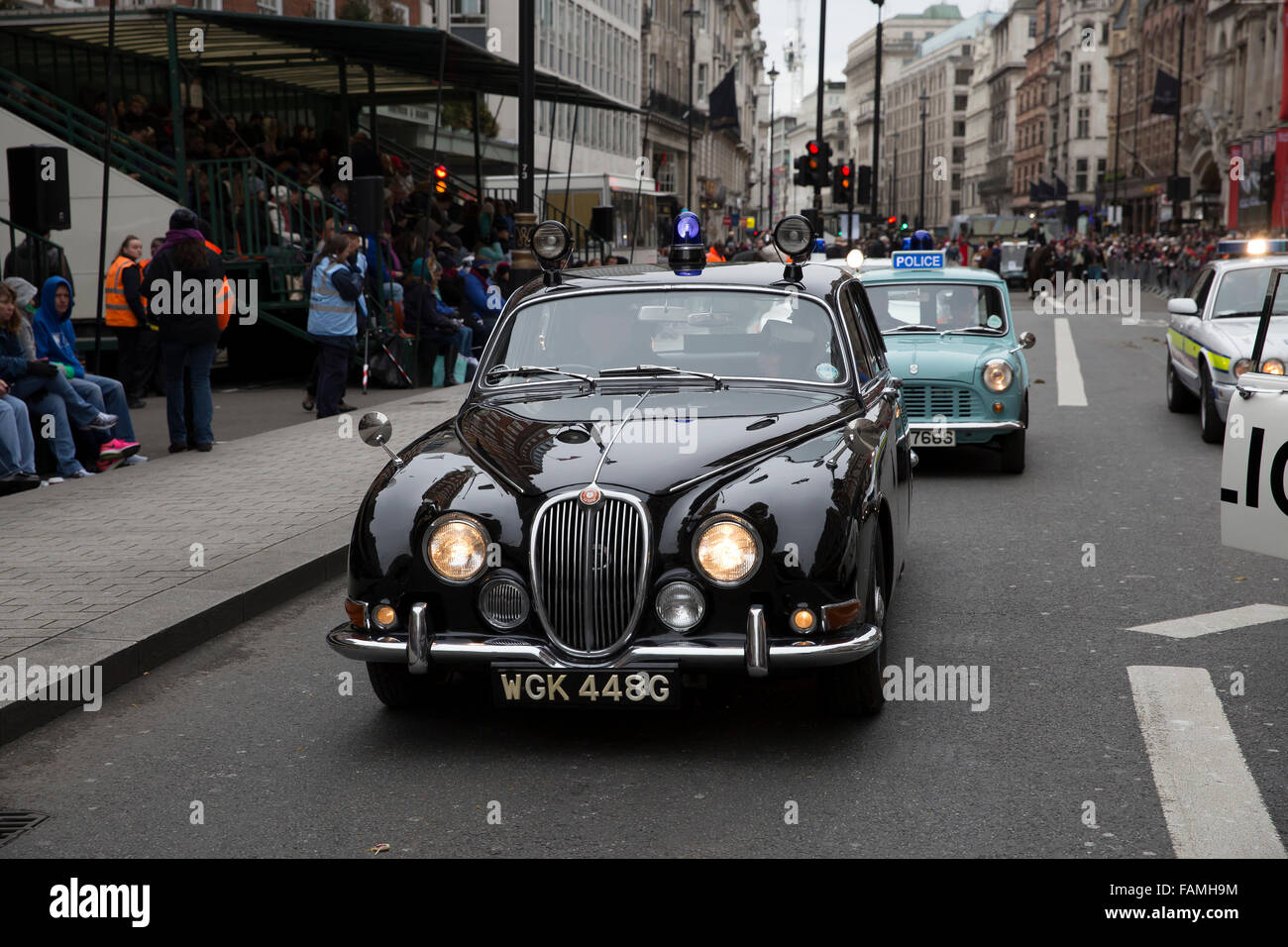 London, UK. 1st January, 2016. Old Police cars take part in the ...