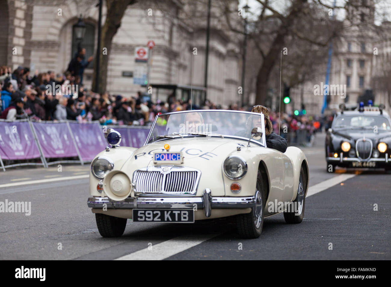 London Uk January Classic Cars From Police Car Uk