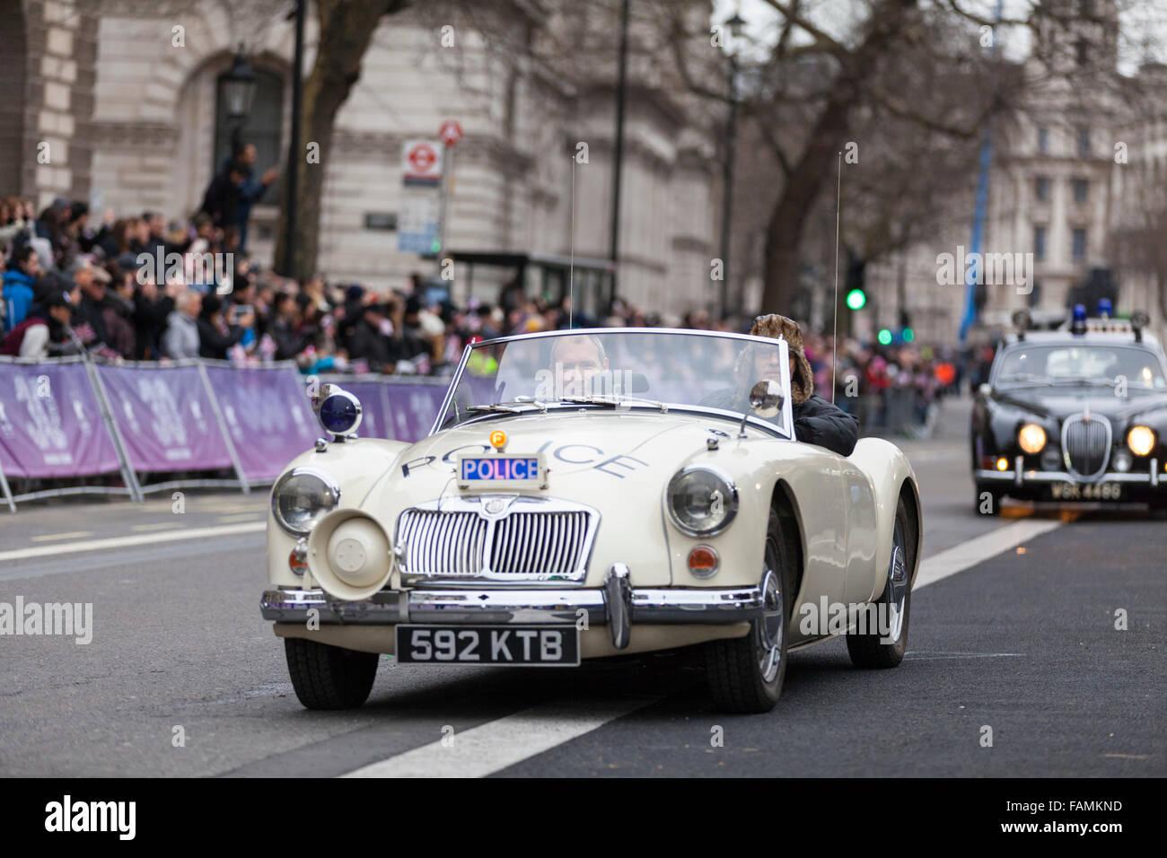 London Uk January Classic Cars From Police Car Uk