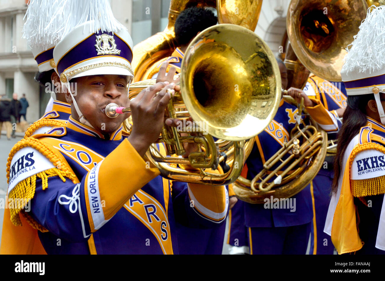 Edna Karr High School Marching Band on the JSU Plaza ... |Edna Karr High School Band