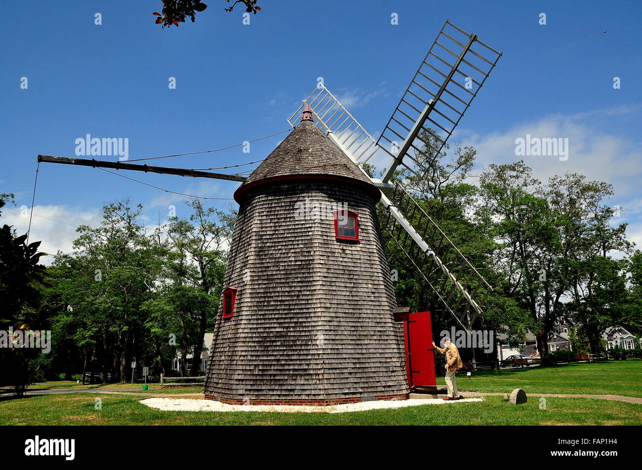 Windmill Cape Cod Part - 43: Eastham, Massachusetts: Tourist Entering The 1680 Eastham Windmill, The  Oldest Windmill On Cape Cod
