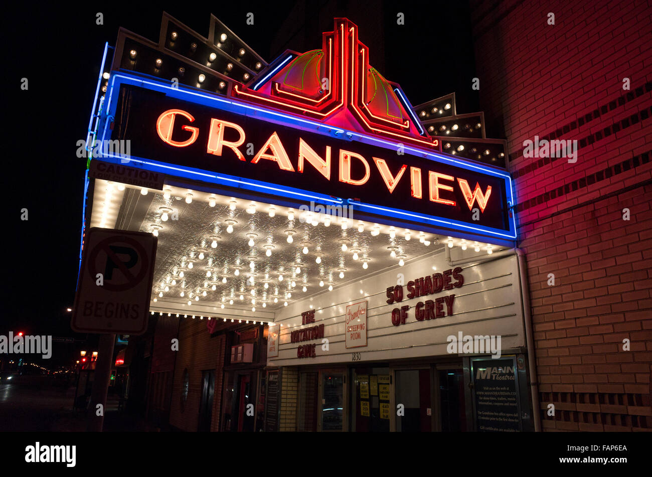grandview historic theater marquee with the risqu movie. Black Bedroom Furniture Sets. Home Design Ideas