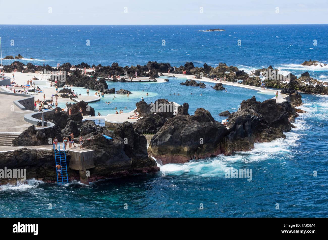 Madeira Porto Moniz Natural Lava Sea Swimming Pools In The Rocks Stock Photo 92707780 Alamy