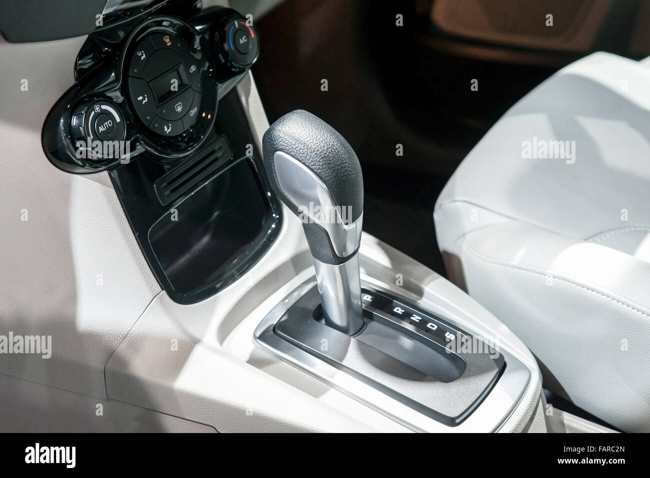 car interior automatic transmission gear shift and air conditioning stock photo royalty free. Black Bedroom Furniture Sets. Home Design Ideas