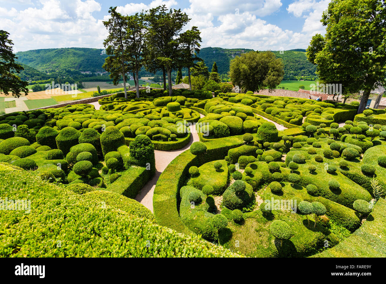 les jardins de marqueyssac v zac dordogne france stock photo royalty free image 92714551. Black Bedroom Furniture Sets. Home Design Ideas