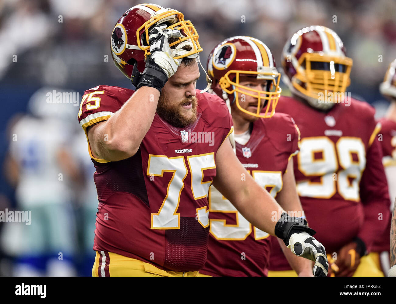 January 3rd 2016 Washington Redskins offensive guard Brandon