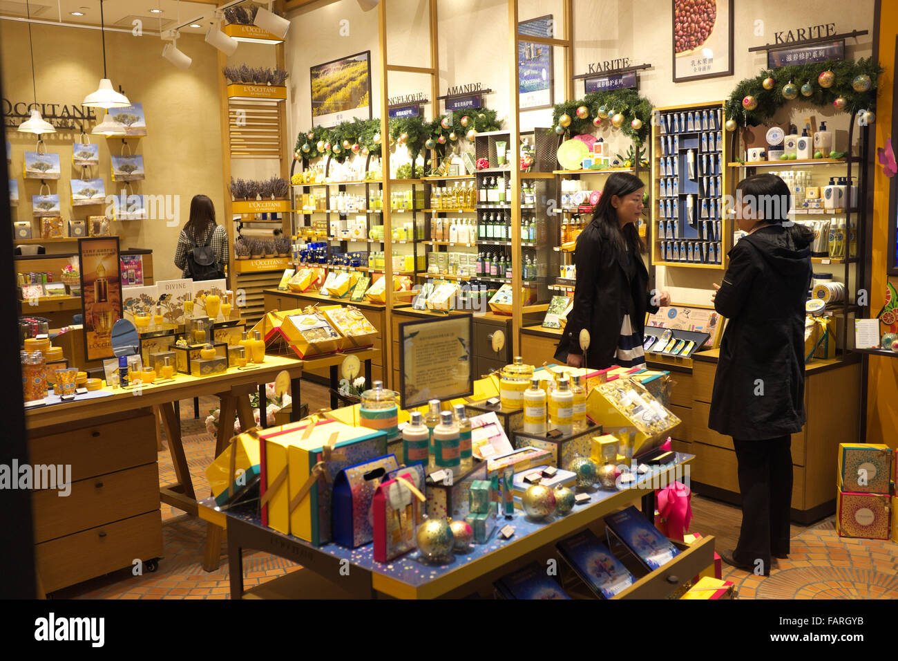 l 39 occitane en provence store in shanghai china stock photo royalty free image 92716607 alamy. Black Bedroom Furniture Sets. Home Design Ideas