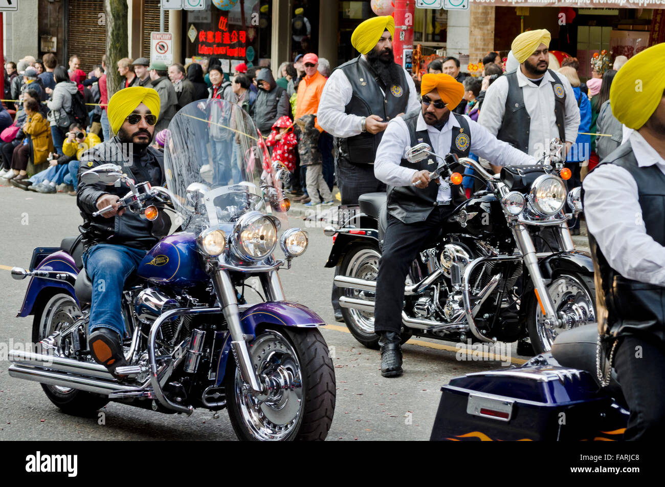Members Of The Sikh Motorcycle Club Appearing In The