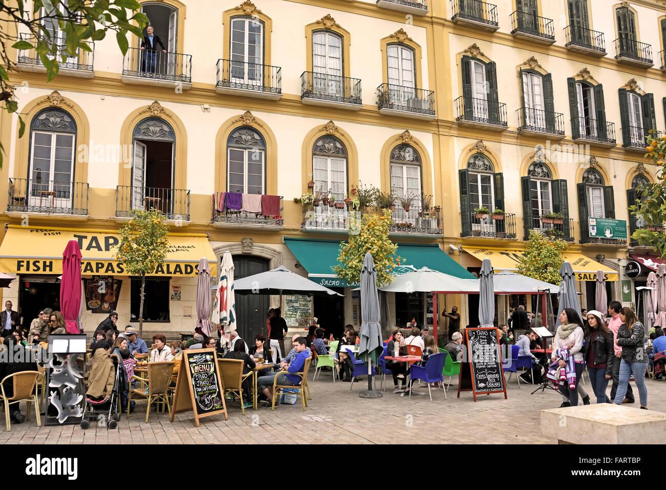 Plaza De La Merced Malaga Spanish Caf 233 Bar Restaurant