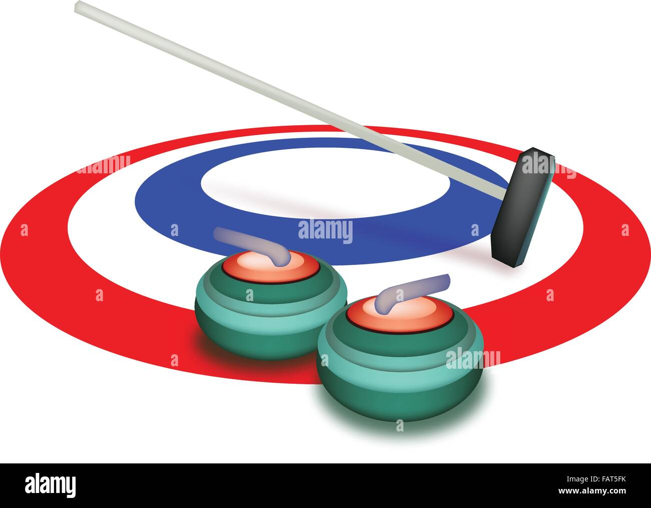 Curling stone clipart