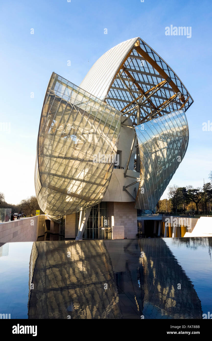 Louis vuitton foundation by architect frank gehry art museum and stock photo royalty free - Frank gehry louis vuitton ...