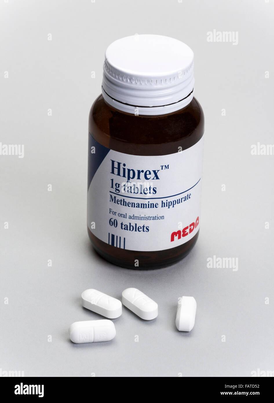 Hiprex methenamine tablets made by MEDA AB Stock Photo