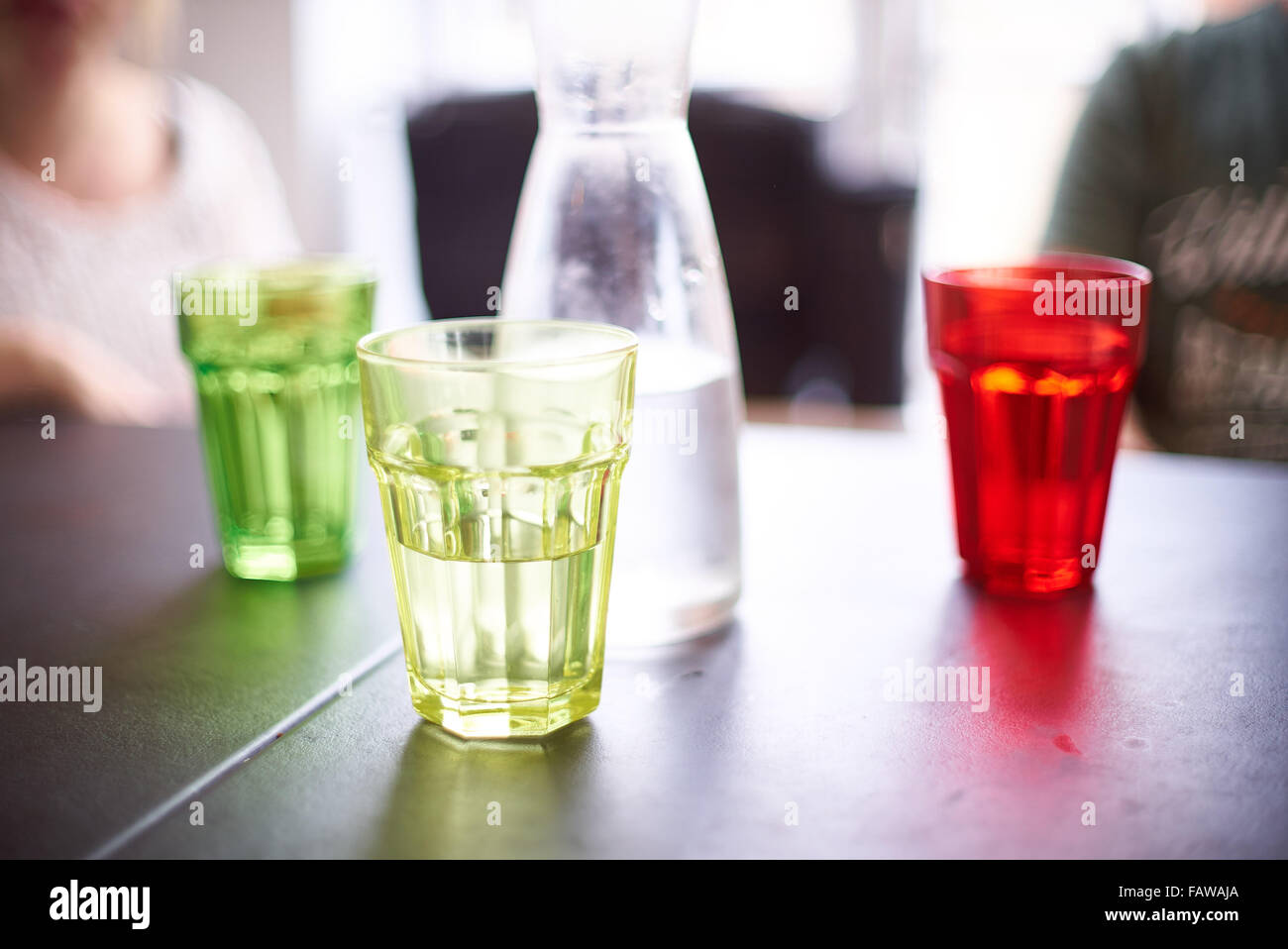 Coloured water glasses