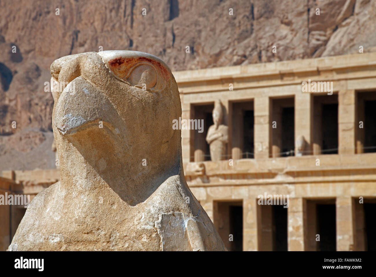 Horus at the Mortuary Temple of Queen Hatshepsut / Djeser ...