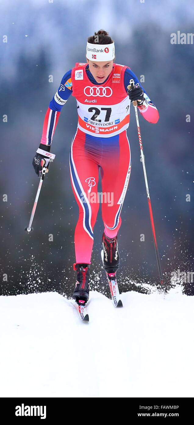Oberstdorf, Germany. 05th Jan, 2016. Heidi Weng of Norway in action Stock Photo, Royalty Free ...