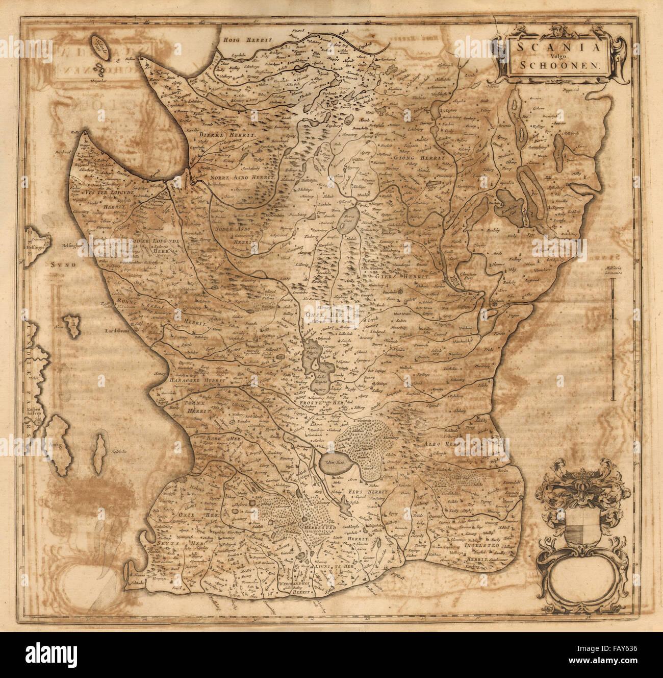 SCANIA VULGO SCHOONEN Skåne Sweden Helsingborg Malmo Ystad - Sweden map ystad