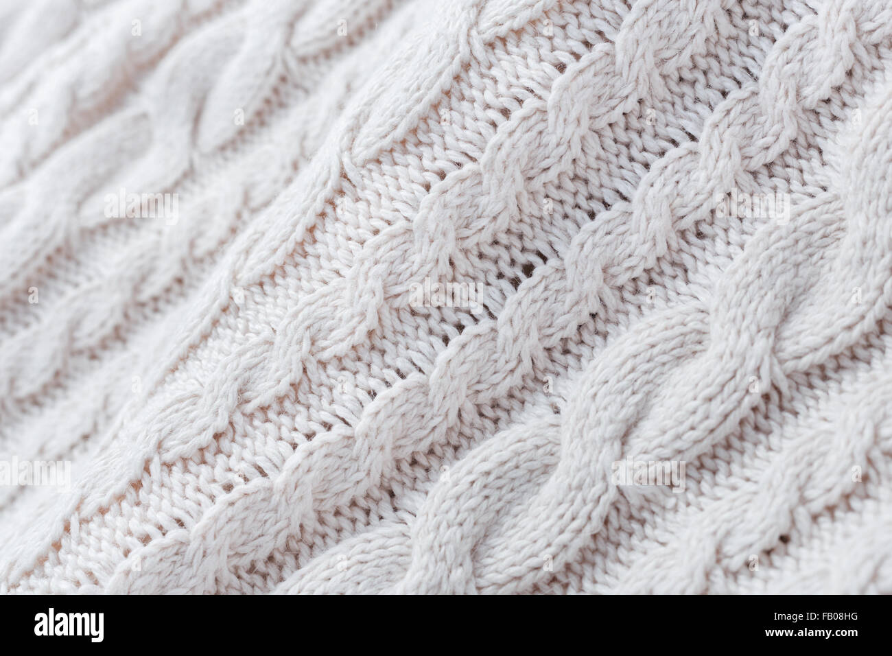 Knitting Background Texture : White knit fabric texture and background stock photo