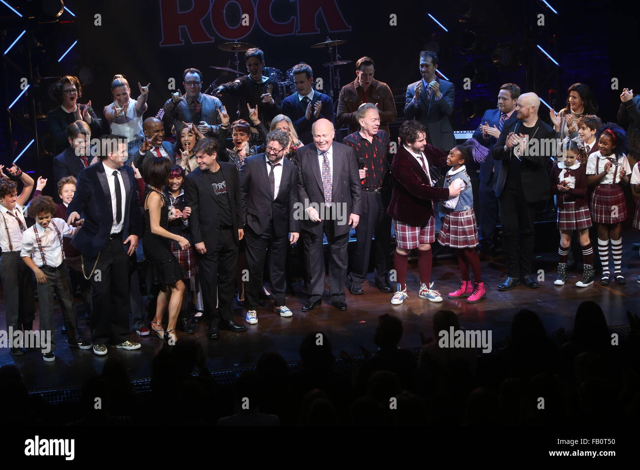 opening night for broadway musical of rock at the winter