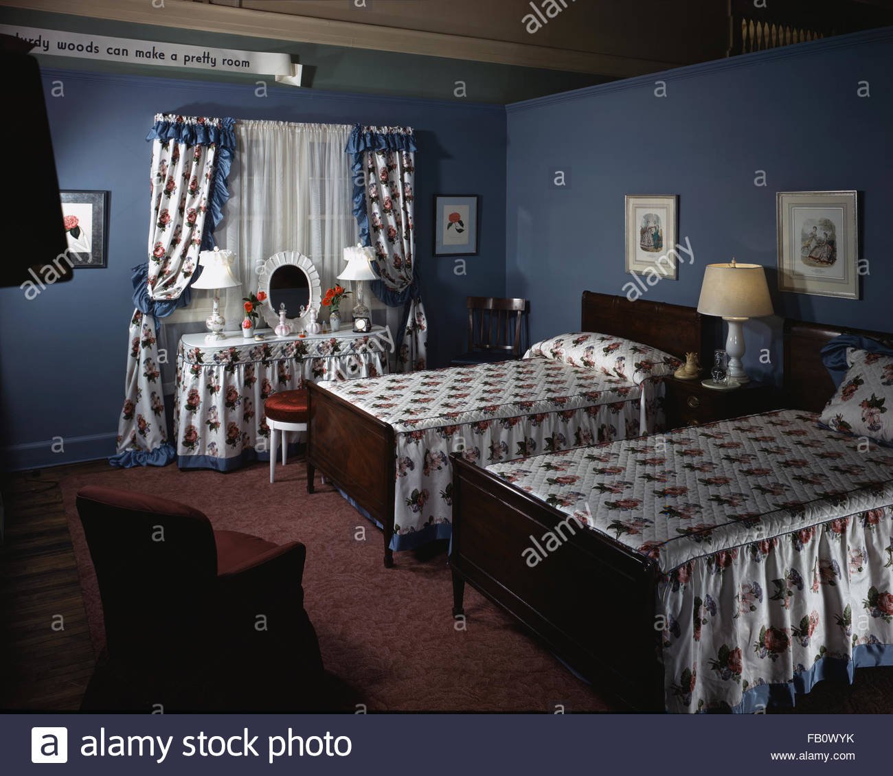 Furniture settings in department stores in Chicago Ill 1943 – Bedroom Settings