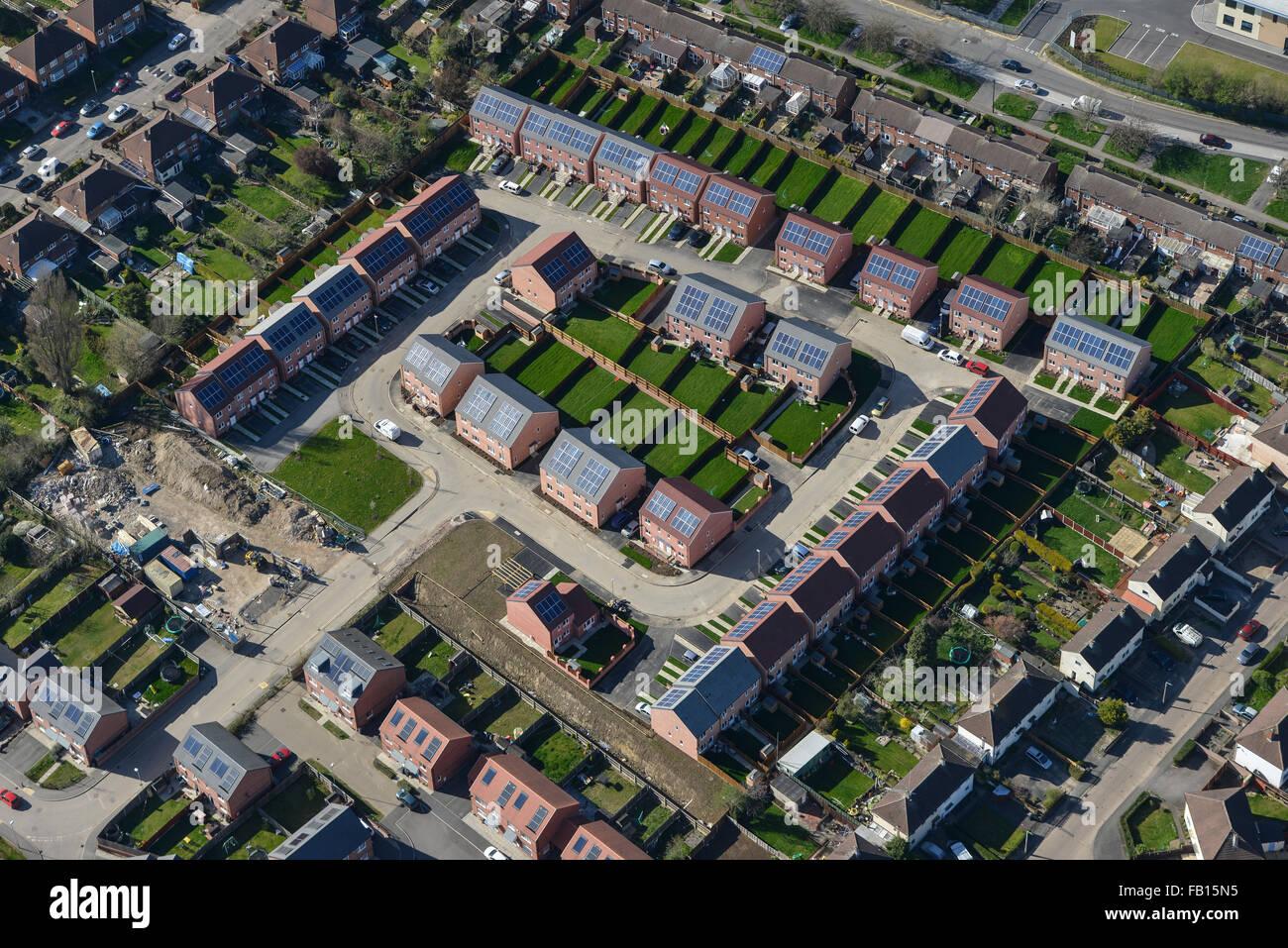 New Housing Development : A new infill housing development in the scraptoft area of