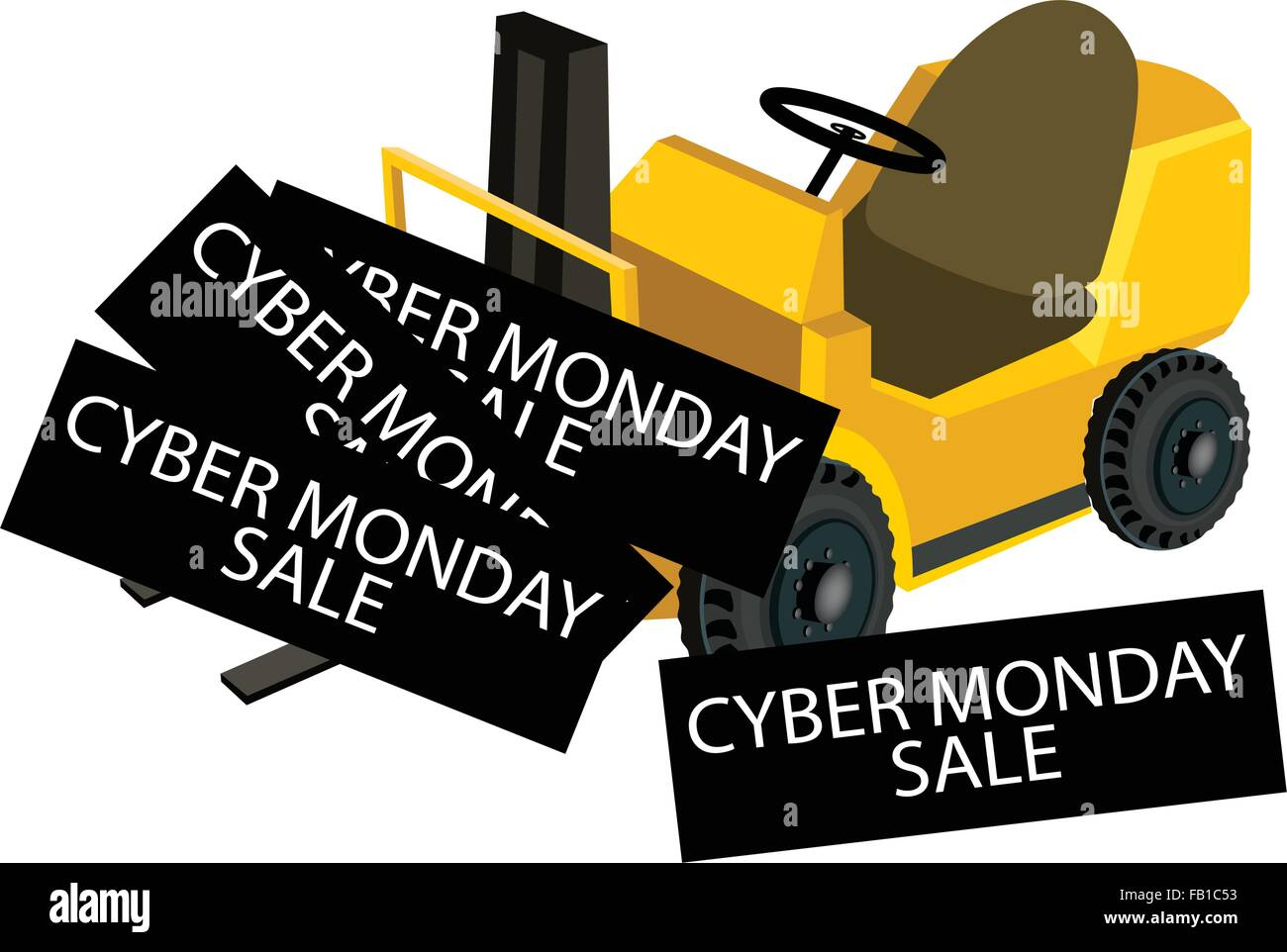 Powered Industrial Forklift Loading Cyber Monday Deal Card for ...