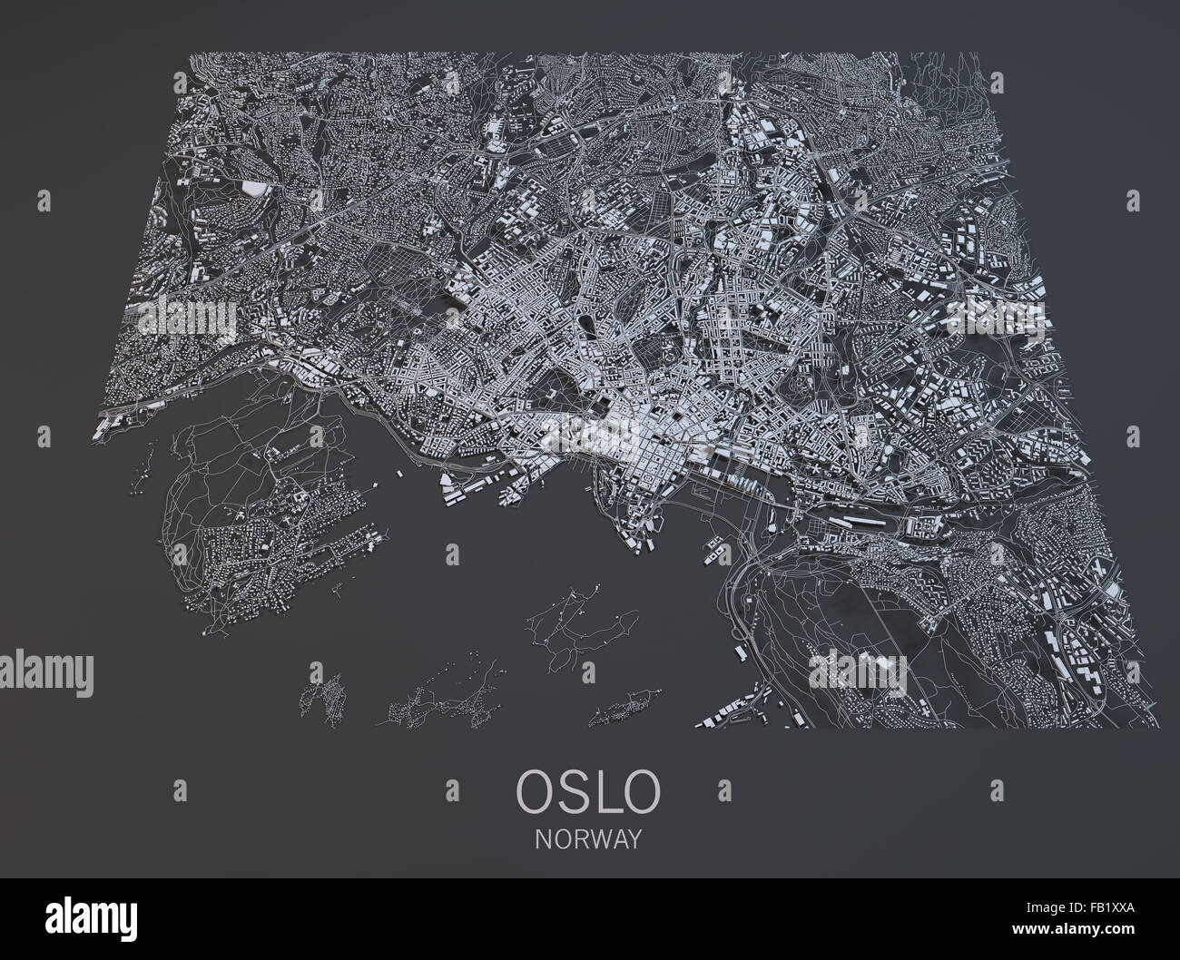 Oslo satellite view map city norway stock photo royalty free oslo satellite view map city norway sciox Gallery