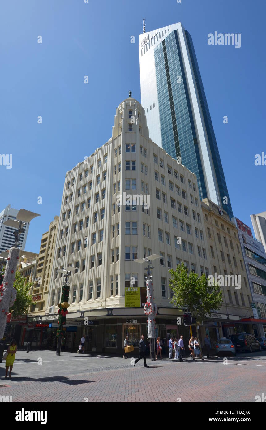 the gledden building an art deco office building in perth australia stock image art deco office building