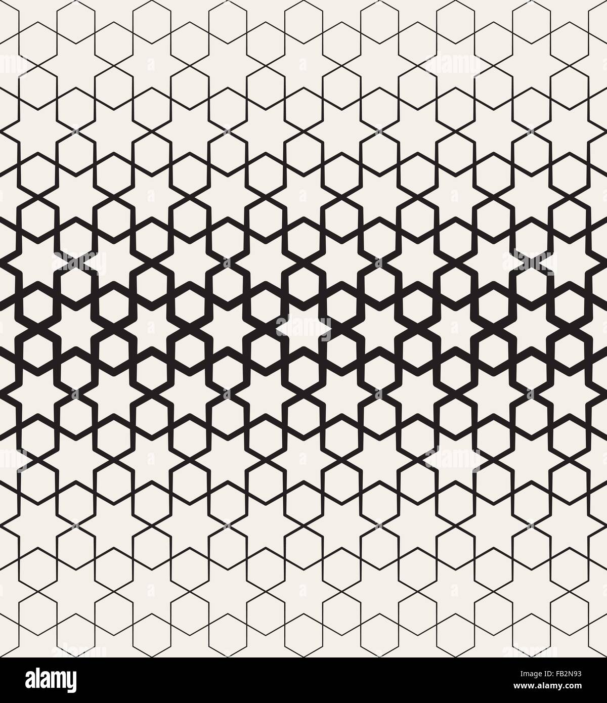 Vector Seamless Black And White Islamic Star Geometric ...