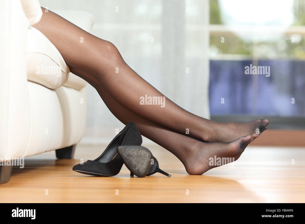 black woman nylons