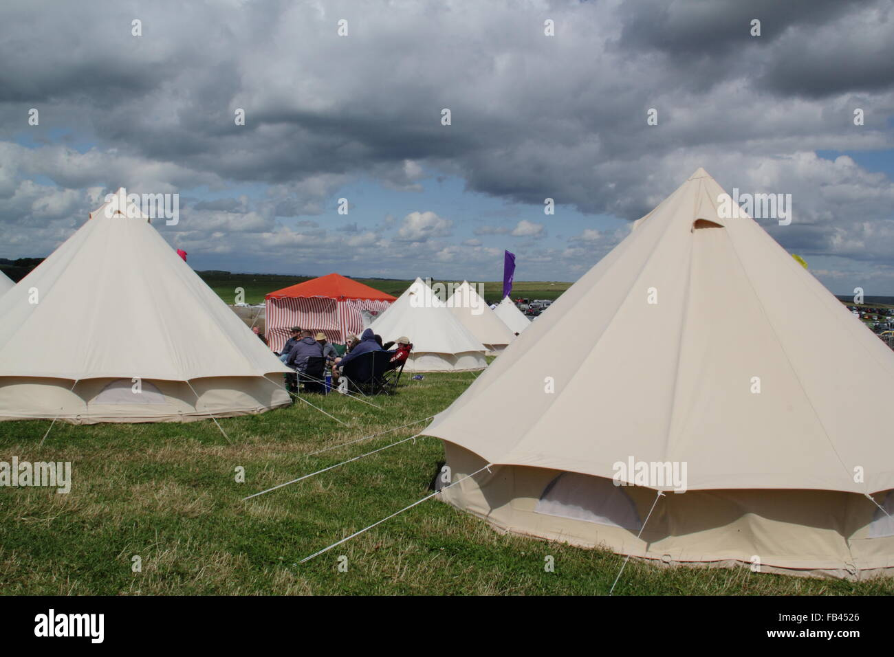 Yurts in the u0027gl&ingu0027 area at the Y Not music festival in England where festival goers are provided with luxury c&ing UK & Yurts in the u0027glampingu0027 area at the Y Not music festival in ...