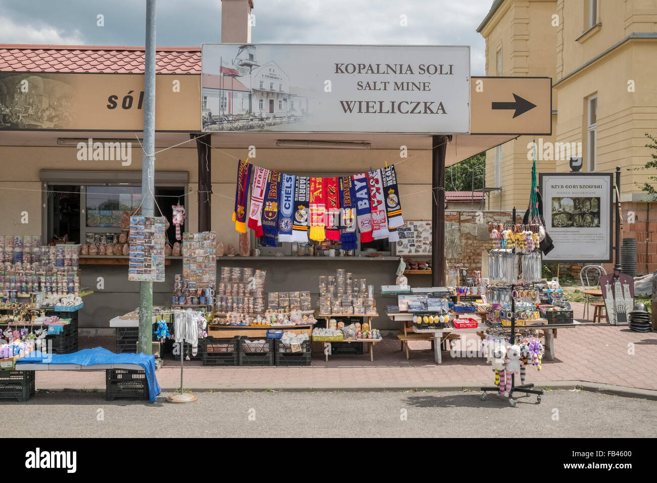 Tourist Souvenir Shop Near The Wieliczka Salt Mine Krakow Poland Stock Photo Royalty Free