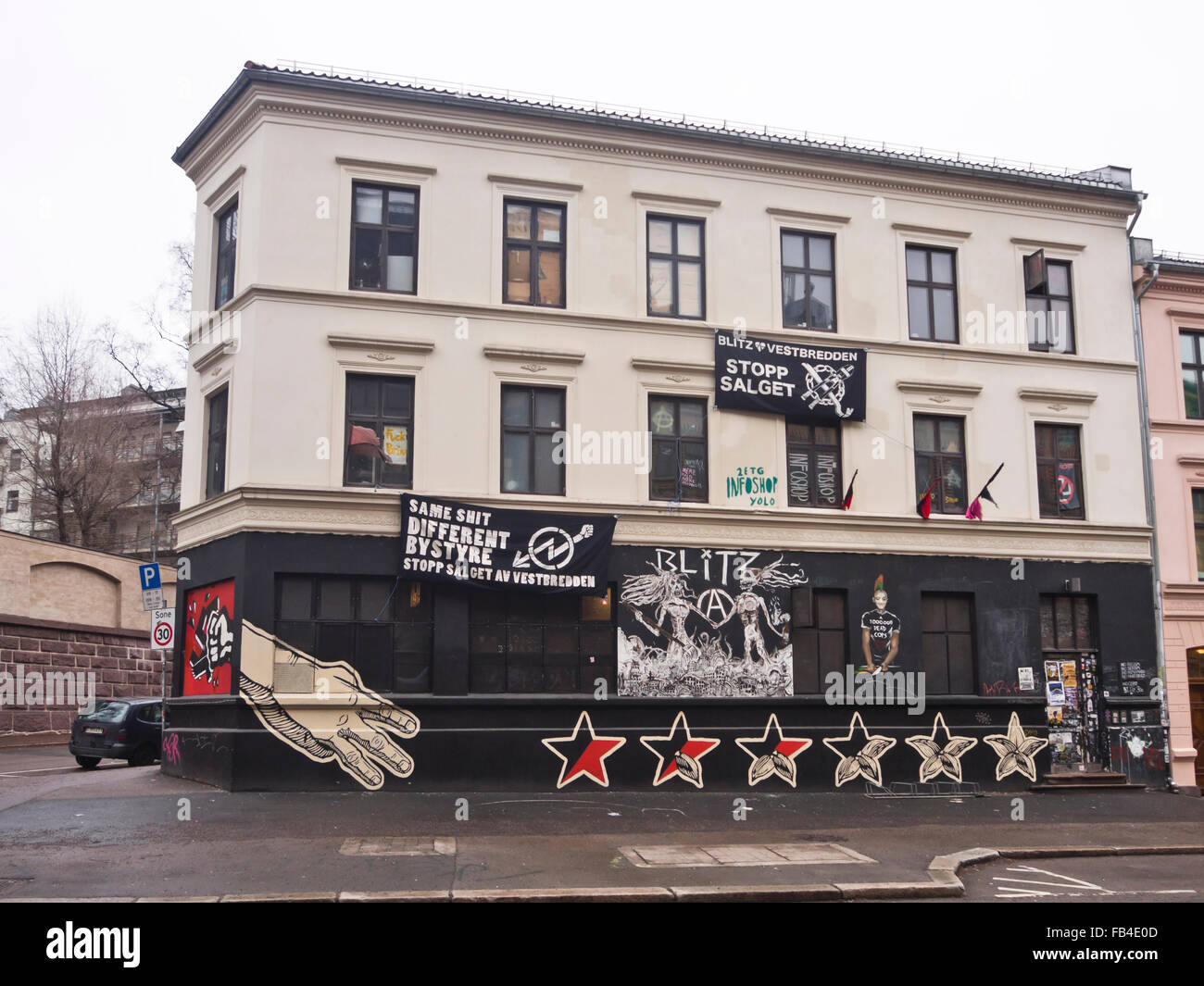 blitz huset first occupied now a culture house for youth in