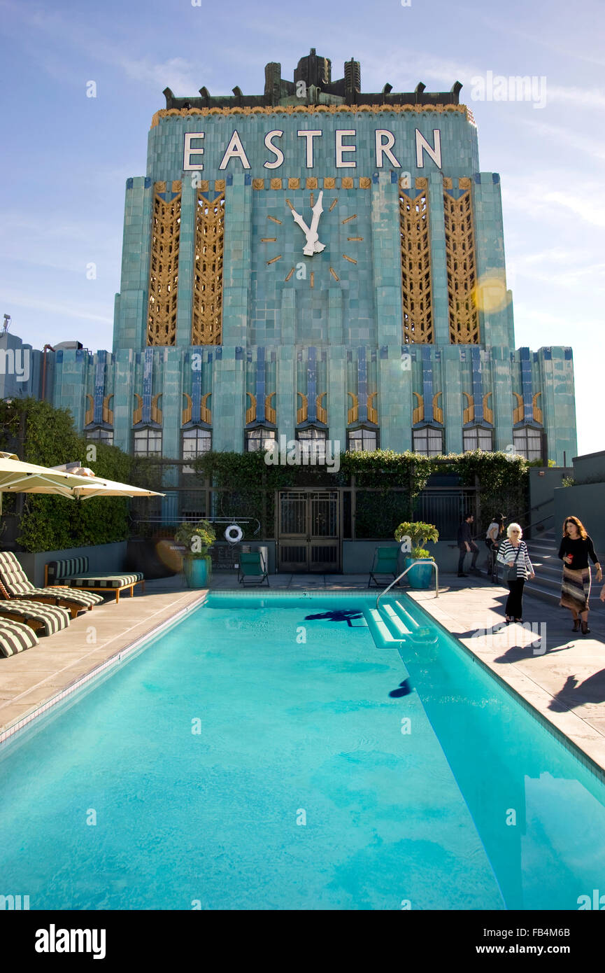 Pool On Top Of Building : Roof top pool of the art deco eastern building on broadway