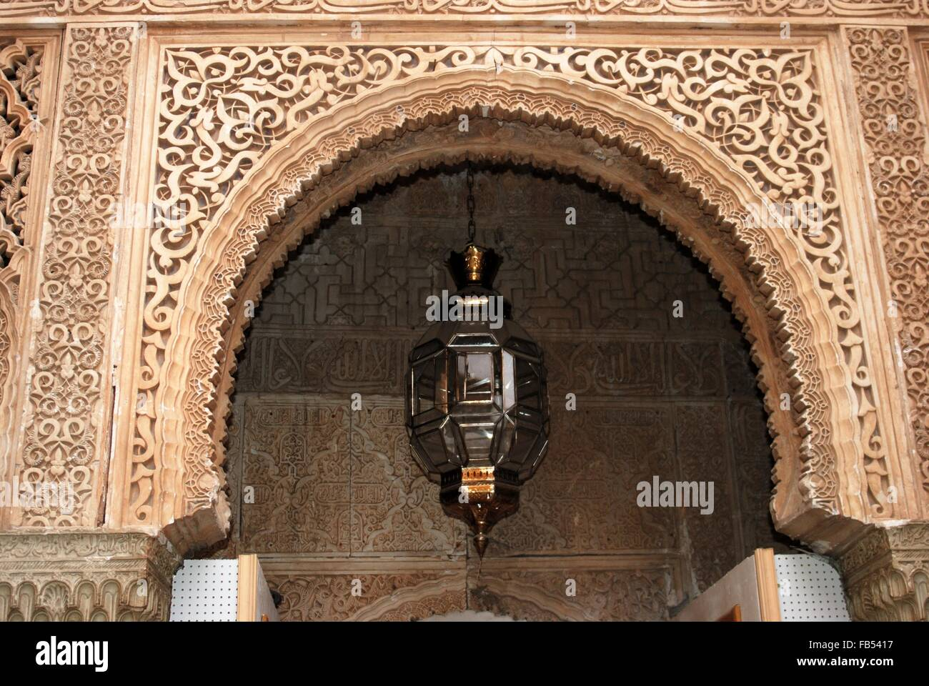 Moorish archway and Moroccan style light, Palace of Alhambra Stock ... for Moroccan Archway  110yll