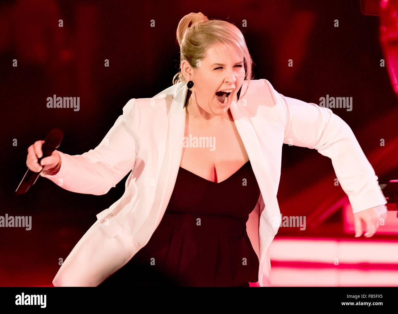 Berlin, Germany. 09th Jan, 2016. Singer Maite Kelly ...