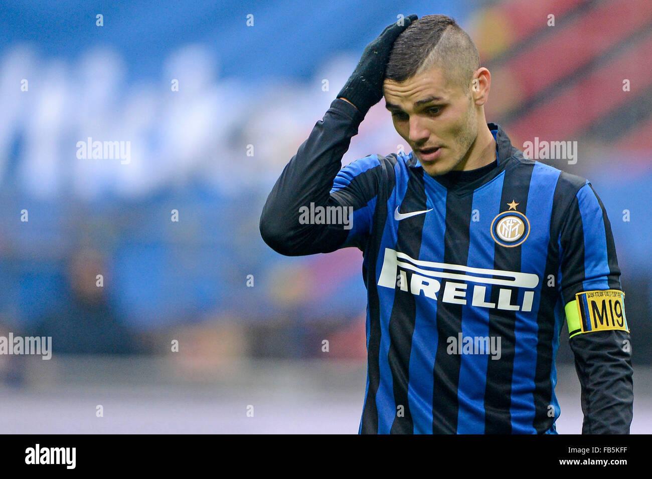 Milan Italy 10th Jan 2016 Mauro Icardi Inter Milano 10 01 2016