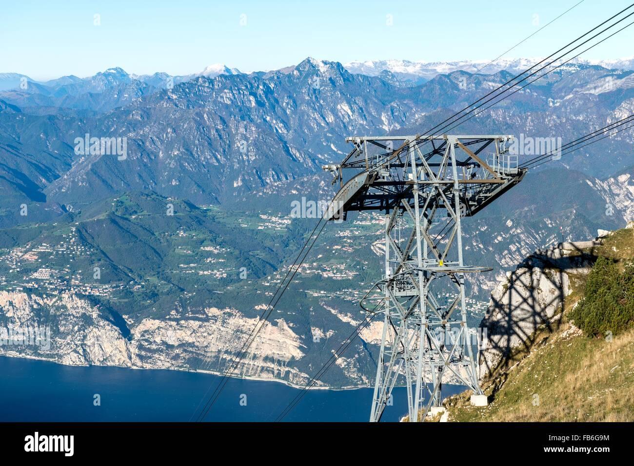 Cable Car Monte Baldo Malcesine Lake Garda Lago Di Garda Stock
