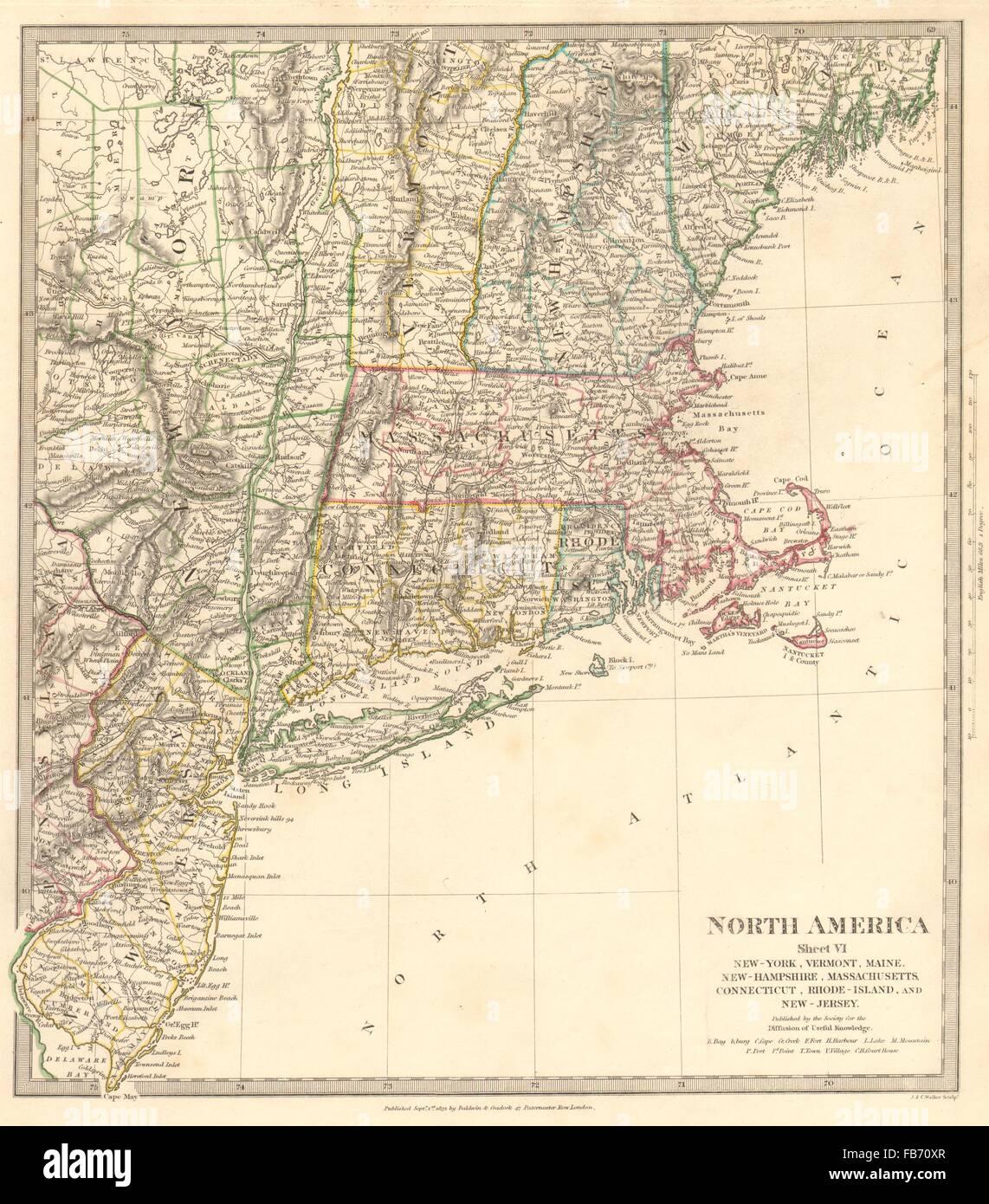 USANew York Maine Massachusetts Connecticut New Jersey NH RI - Maine on map of usa