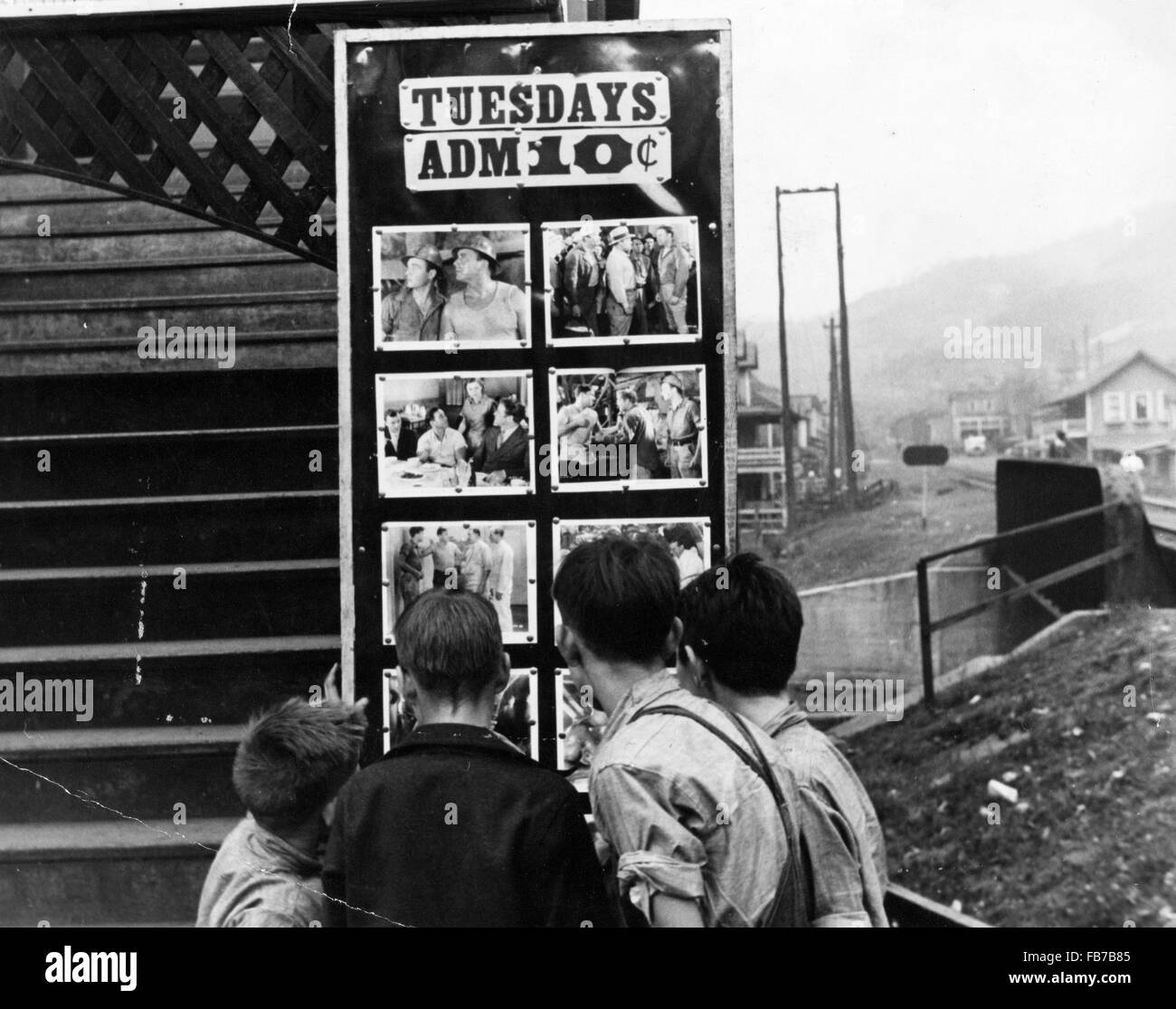 movie theater omar west virginia america 1930s stock