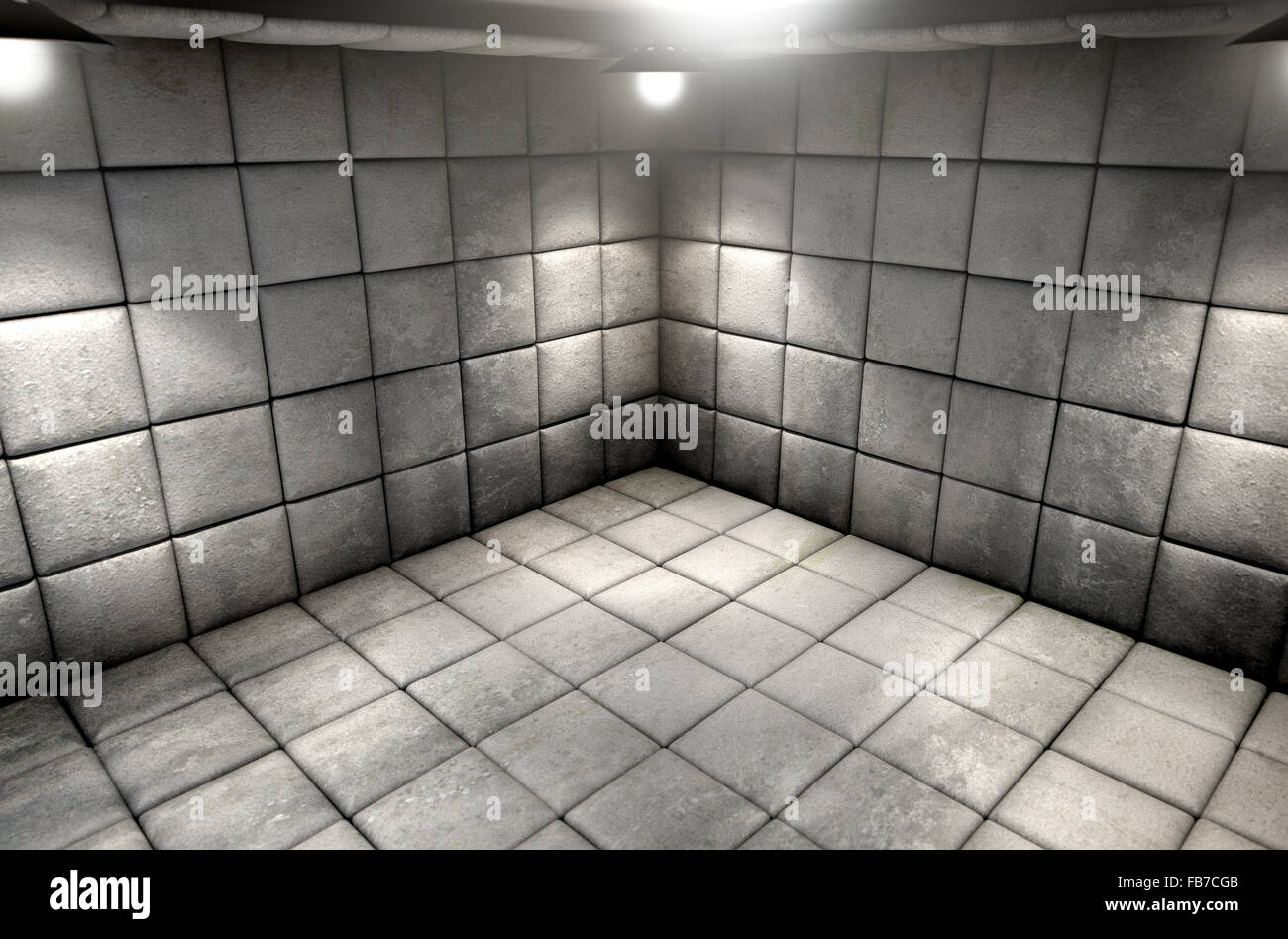 A dirty white padded cell in a mental hospital Stock Photo: 92976545 ...