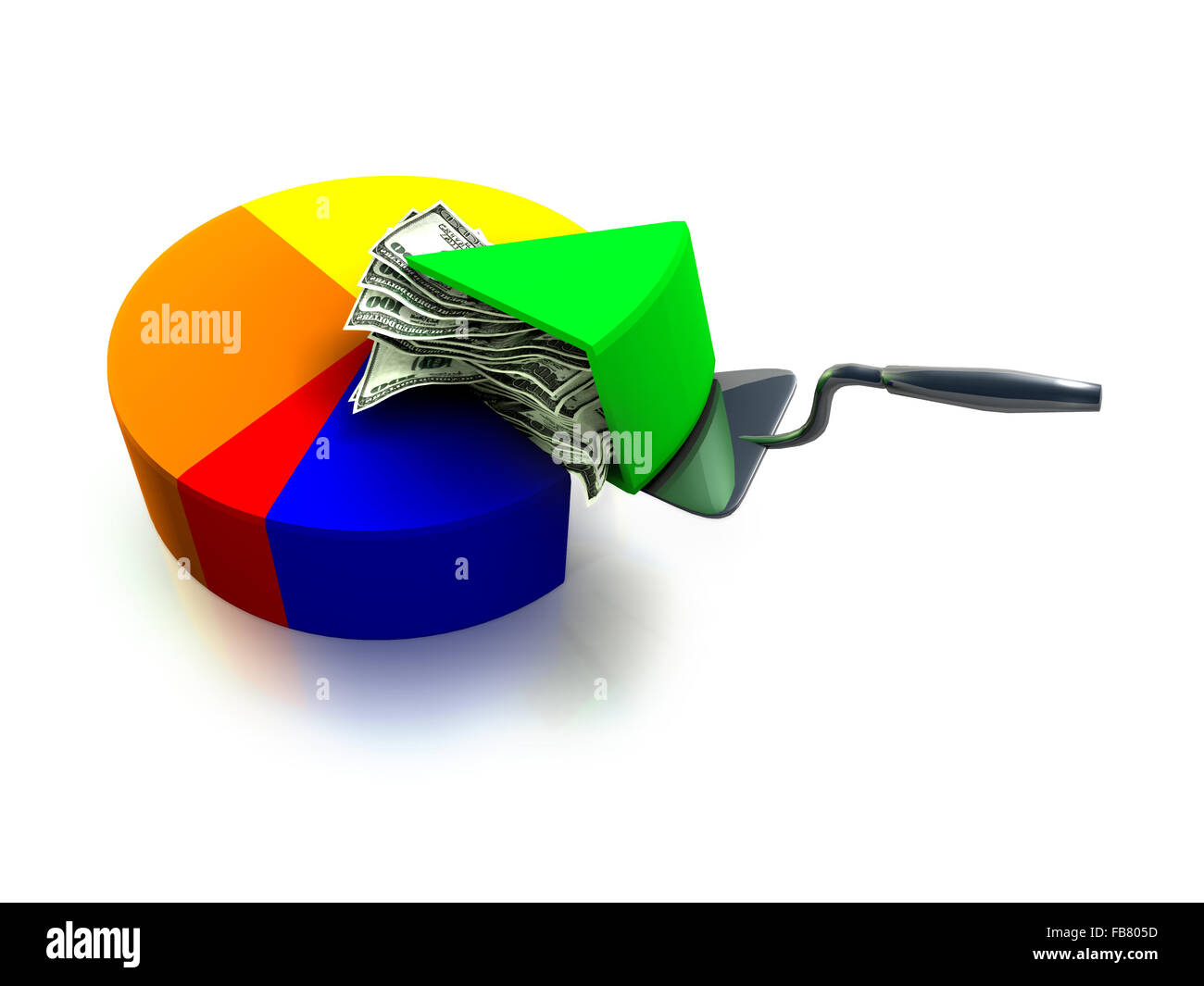 A money pie chart 3d render an interesting concept in having a a money pie chart 3d render an interesting concept in having a piece of the pie as the saying goes nvjuhfo Gallery