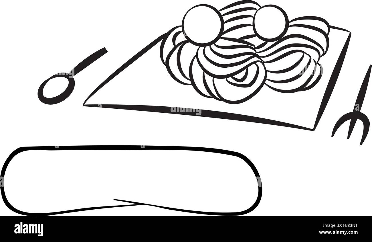 Line Drawing Food : Line drawing of food italian origin or possibly