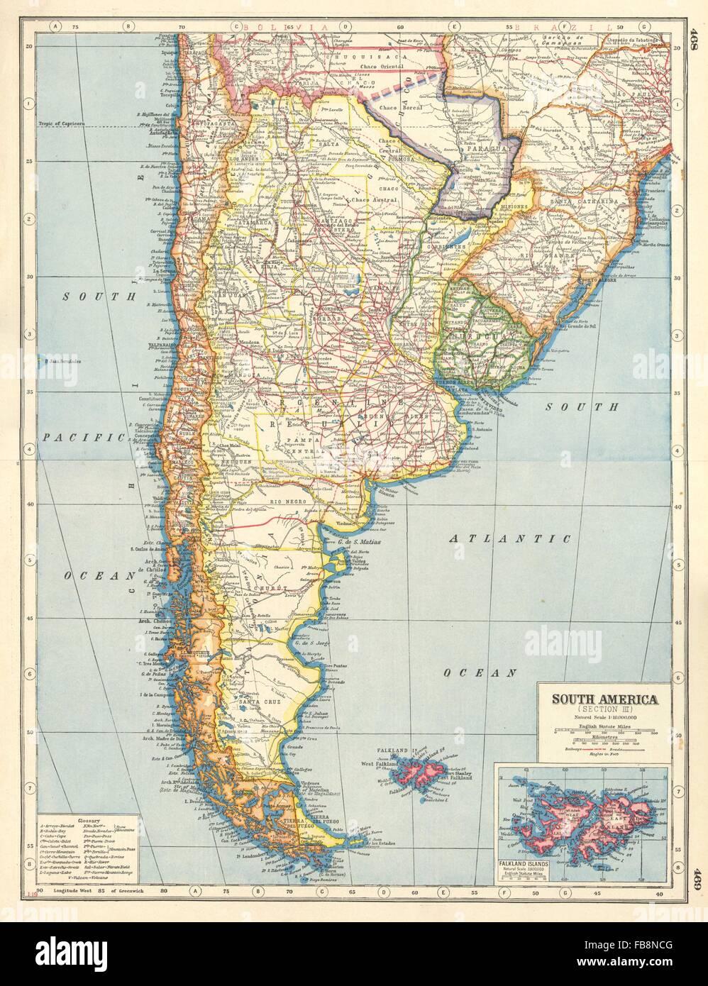 S AMERICA BoliviaParaguay Gran Chaco Border Dispute Chile Stock - South america map gran chaco