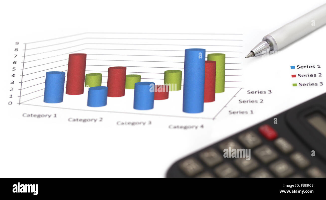 Sales bar chart with ballpoint and calculator stock photo 93007054 sales bar chart with ballpoint and calculator ccuart Gallery
