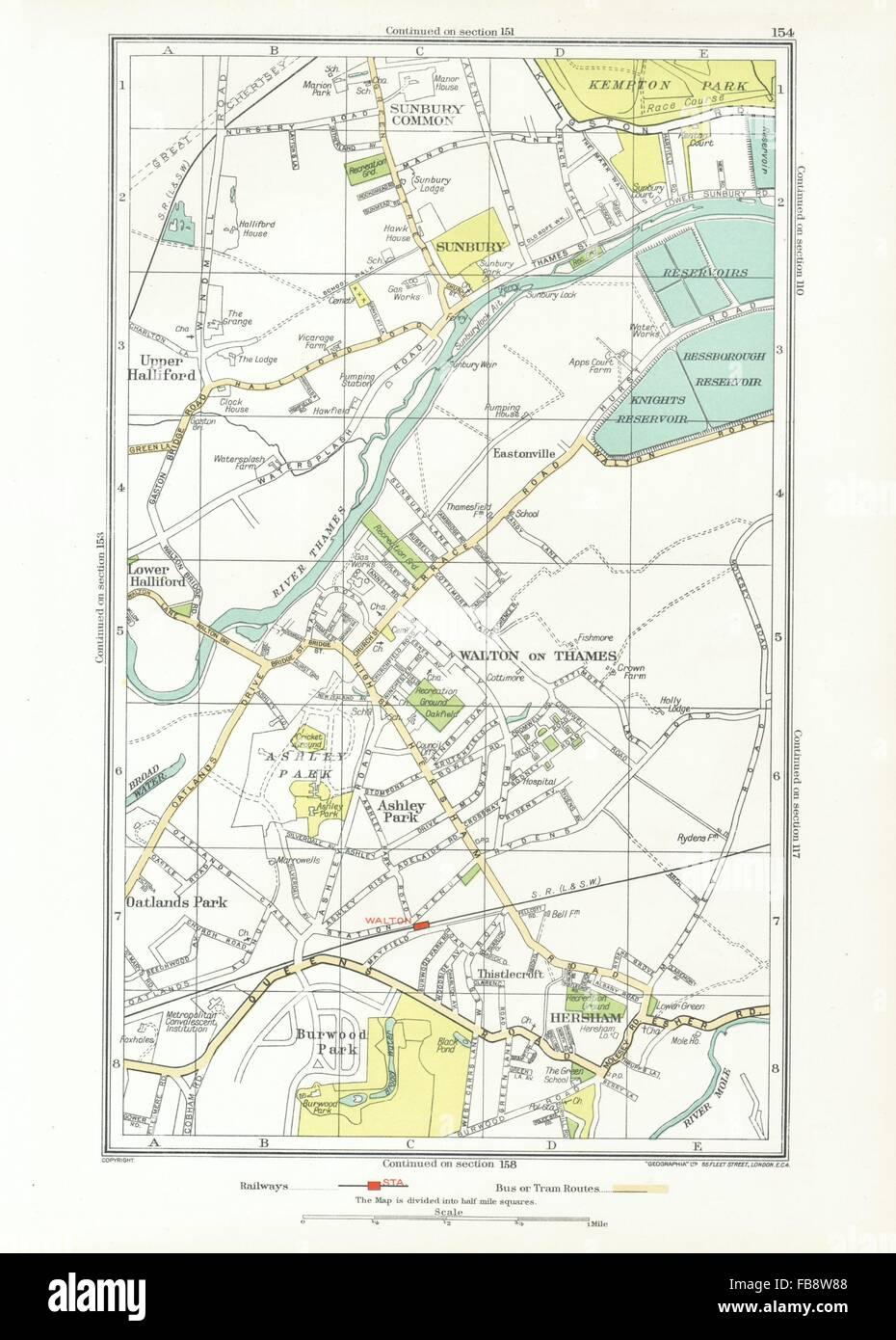 WALTON ON THAMES Sunbury Hersham Upper Halliford Burwood Park