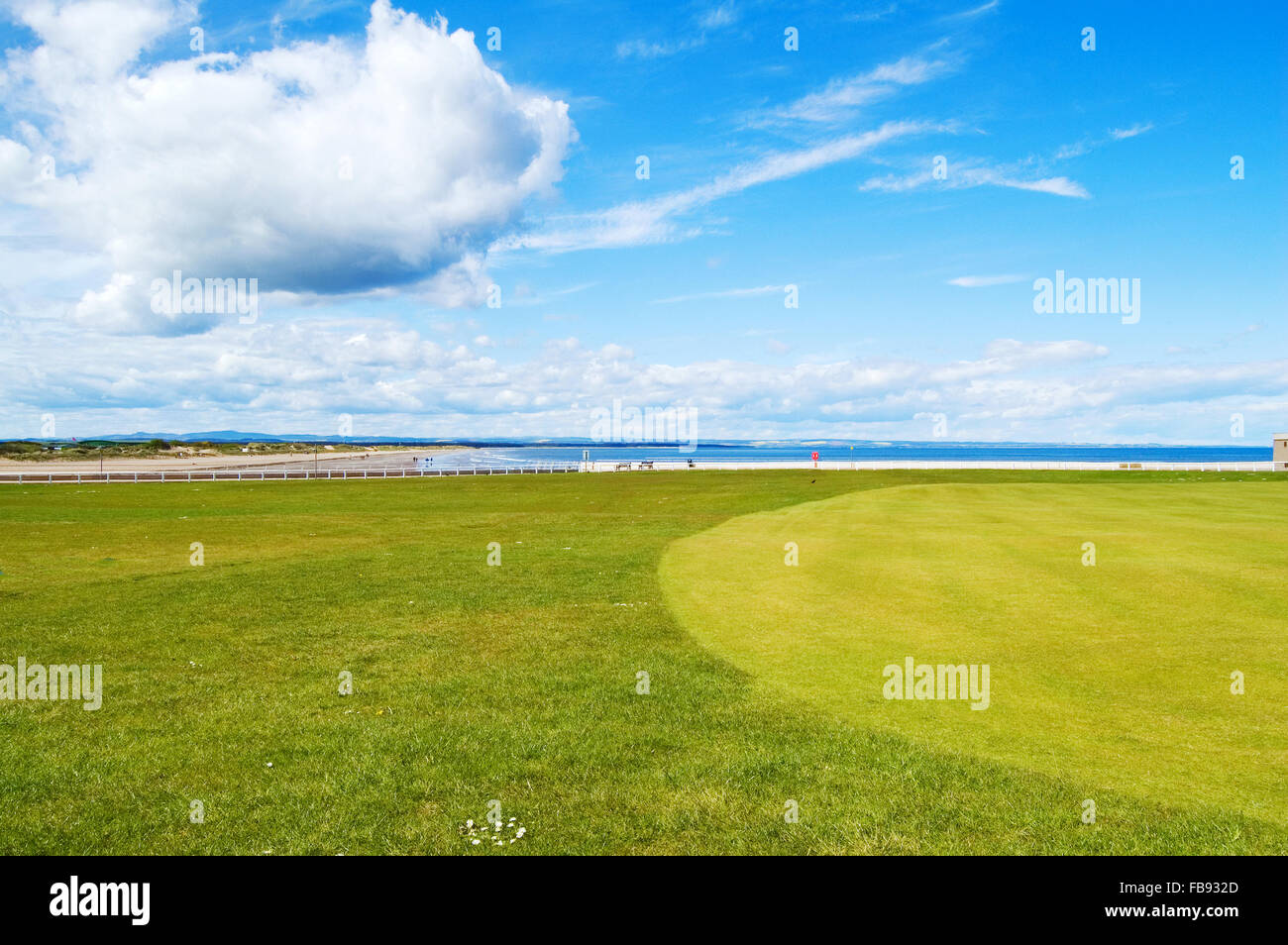Background image location - Golf Green St Andrews Old Course Links On Background West Sands Beach Movie Location Chariots